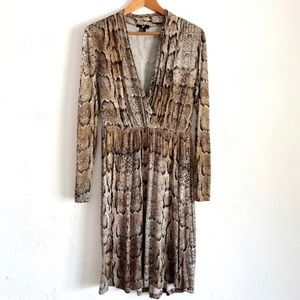 H&M snakeskin long sleeve dress sz S nwot